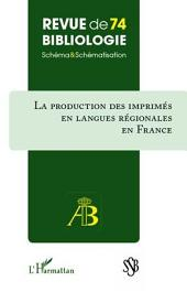 Production des imprimés en langues régionales en France