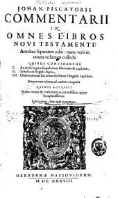 Commentarii in omnes libros Veteris Testamenti: antehac aliquoties separatim editi, nunc vero in unum volumen collecti, Volume 1