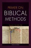 Primer on Biblical Methods