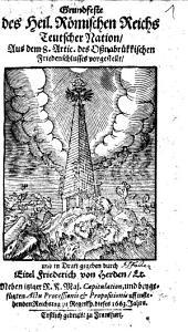 Actus processionis et propositionis, so den 10. (20) Januarii 1663 solenniter fürgegangen