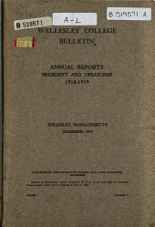 Annual Reports [of] President and Treasurer