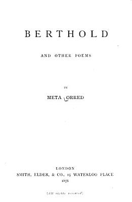 Berthold  and Other Poems     PDF