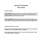 Draft 1990 RPA Program