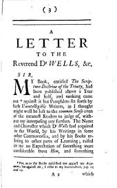 A Letter to the Reverend Dr Wells, Rector of Cotesbach in Leicestershire. In Answer to His Remarks, &c: Volume 2