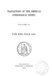 Transactions of the American Gynecological Society: Volume 14