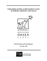 Exploring Rapid Achievement Gains in North Carolina and Texas PDF