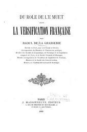 Du rôle de l'e muet dans la versification française