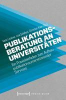 Publikationsberatung an Universit  ten PDF