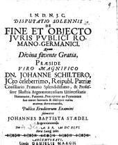 Disp. sol. de fine et obiecto iuris publici Romano-Germanici