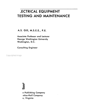 Electrical Equipment  Testing and Maintenance PDF