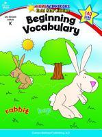 Beginning Vocabulary  Grade K PDF