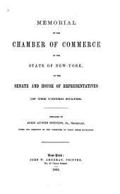 Memorial of the Chamber of Commerce of the State of New York, to the Senate and House of Representatives of the United States