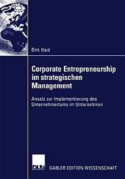 Corporate Entrepreneurship im strategischen Management PDF