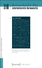 Zeitschrift für interkulturelle Germanistik: 2. Jahrgang, 2011, Ausgabe 1