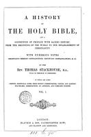 A history of the holy Bible PDF