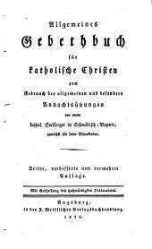 Allgemines Gebethbuch für katholische Christen