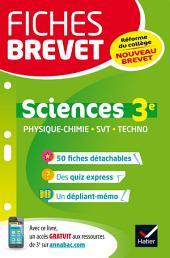 Fiches brevet Physique-chimie SVT Technologie 3e: fiches de révision pour le nouveau brevet
