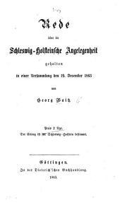 Rede über die Schleswig-Holsteinsche Angelegenheit, etc