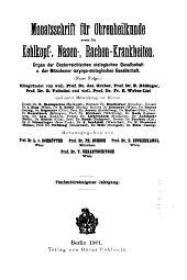 Monatsschrift für Ohrenheilkunde und Laryngo-Rhinologie