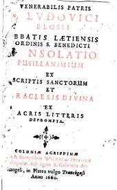 Consolatio Pusillanimium ex scriptis sanctorum