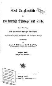 Real-encyklopädie für protestantische theologie und kirche: Band 6