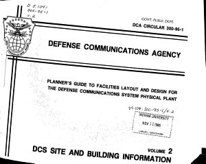 Planner s Guide to Facilities Layout and Design for the Defense Communications System Physical Plant PDF