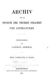 Archiv für das Studium der neueren Sprachen und Literaturen