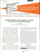 Diameter growth and phenology of trees on sites with high water tables