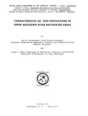 Characteristics of Fish Populations in Upper Mississippi River Backwaters