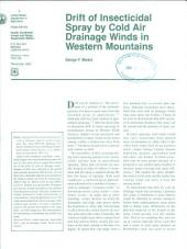Drift of insecticidal spray by cold air drainage winds in western mountains