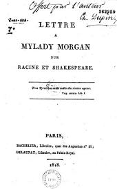 Lettre à Milady Morgan sur Racine et Shakespeare