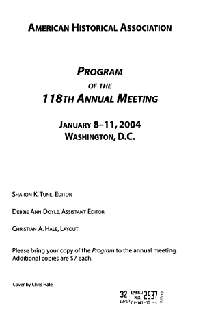 Program of the ... Annual Meeting