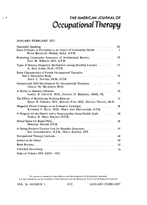 The American Journal of Occupational Therapy PDF