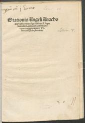 Orationis Angeli Anachor. Vallisumbrosae ad Jul. II. super concilio Lateran. confirmatio