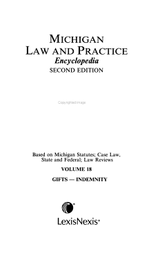 Michigan law and practice encyclopedia PDF