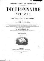 Dictionnaire national ver dictionnaire universel de la langue fran  aise0 PDF
