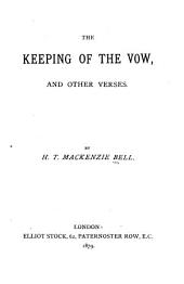 The Keeping of the Vow: And Other Verses