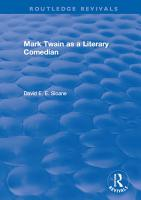 Routledge Revivals  Mark Twain as a Literary Comedian  1979  PDF