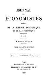 Journal des économistes: revue de la science économique et de la statistique