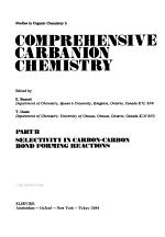 Comprehensive Carbanion Chemistry: Selectivity in carbon-carbon bond forming reactions