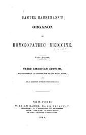Samuel Hahnemann's Organon of homœopathic medicine