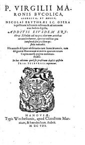 P. Virgilii Maronis Bvcolica, Georgica et Aeneis