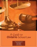 A Guide to Ontario School Law PDF