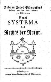 Neues Systema des Rechts der Natur