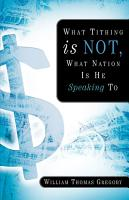 What Tithing Is Not  What Nation Is He Speaking to PDF