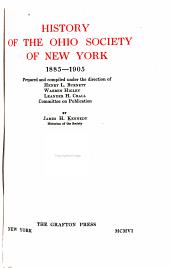 History of the Ohio Society of New York, 1885-1905