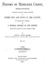 History of Middlesex County, Massachusetts