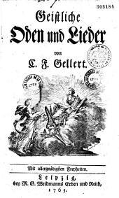 Geistliche Oden und Lieder, von C. F. Gellert