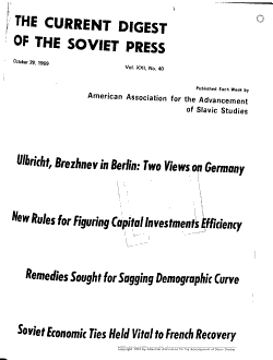 The Current Digest of the Soviet Press PDF