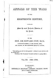 Annals of the Wars of the Eighteenth Century, Compiled from the Most Authentic Histories of the Period: 1760-1783. III